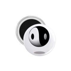 Yin Yang 1 75  Button Magnet