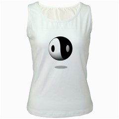 Yin Yang Womens  Tank Top (White)