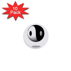 Yin Yang 1  Mini Button (10 Pack)