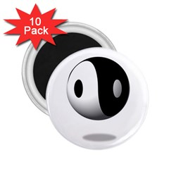 Yin Yang 2 25  Button Magnet (10 Pack)