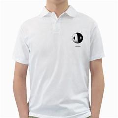 Yin Yang Mens  Polo Shirt (White)