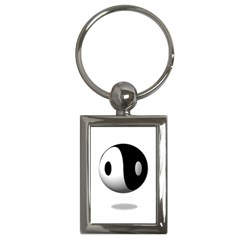 Yin Yang Key Chain (rectangle)