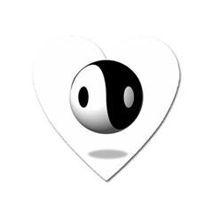 Yin Yang Magnet (Heart)