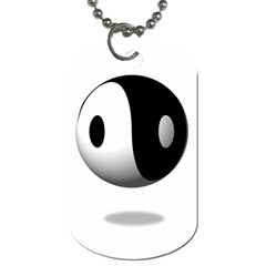 Yin Yang Dog Tag (One Sided)