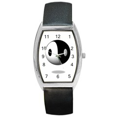 Yin Yang Tonneau Leather Watch