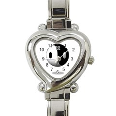 Yin Yang Heart Italian Charm Watch
