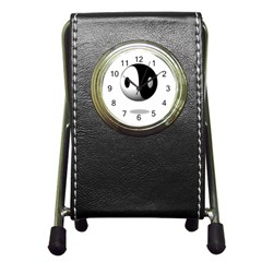 Yin Yang Stationery Holder Clock