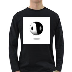 Yin Yang Mens' Long Sleeve T-shirt (Dark Colored)