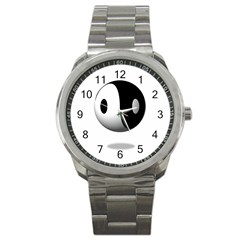 Yin Yang Sport Metal Watch