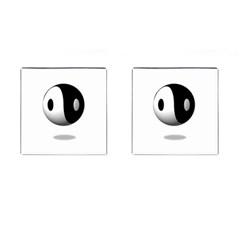 Yin Yang Cufflinks (square)