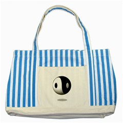 Yin Yang Blue Striped Tote Bag