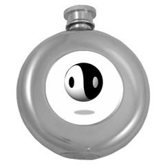 Yin Yang Hip Flask (Round)