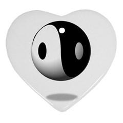 Yin Yang Heart Ornament (two Sides)