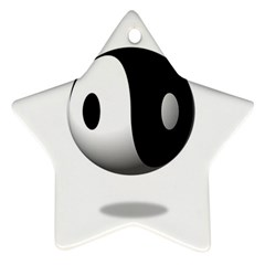 Yin Yang Star Ornament (two Sides)