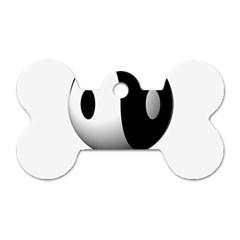 Yin Yang Dog Tag Bone (Two Sided)