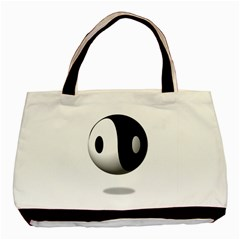Yin Yang Twin-sided Black Tote Bag