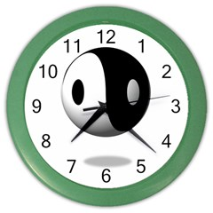 Yin Yang Wall Clock (Color)