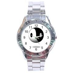 Yin Yang Stainless Steel Watch (men s)