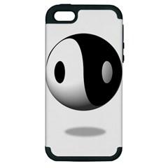 Yin Yang Apple iPhone 5 Hardshell Case (PC+Silicone)