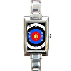 Target Rectangular Italian Charm Watch