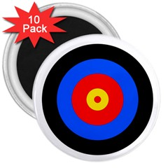 Target 3  Button Magnet (10 pack)