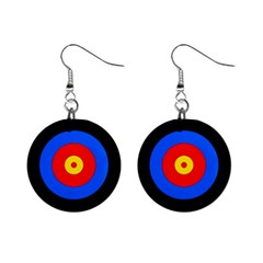 Target Mini Button Earrings