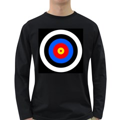 Target Mens' Long Sleeve T-shirt (Dark Colored)
