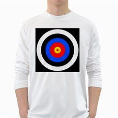 Target Mens' Long Sleeve T-shirt (White)
