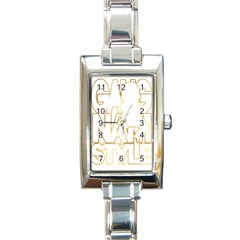 Gangnam Style Rectangular Italian Charm Watch