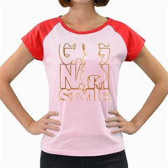 Gangnam Style Women s Cap Sleeve T-Shirt (Colored)