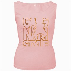 Gangnam Style Womens  Tank Top (Pink)