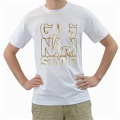 Gangnam Style Mens  T Shirt (white)