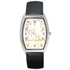 Gangnam Style Tonneau Leather Watch