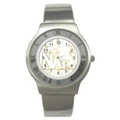 Gangnam Style Stainless Steel Watch (Unisex)