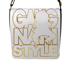 Gangnam Style Flap Closure Messenger Bag (Large)