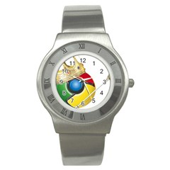 Chrome King Stainless Steel Watch (Unisex)