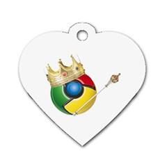 Chrome King Dog Tag Heart (One Sided)