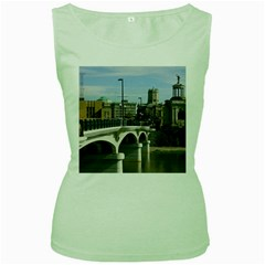 Hamilton 1 Womens  Tank Top (Green)