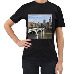 Hamilton 1 Womens' Two Sided T Shirt (black)