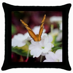 Butterfly 159 Black Throw Pillow Case