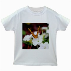 Butterfly 159 Kids' T-shirt (White)