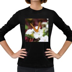Butterfly 159 Womens' Long Sleeve T Shirt (dark Colored)