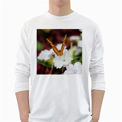 Butterfly 159 Mens' Long Sleeve T Shirt (white)
