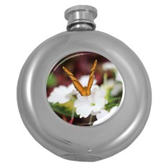 Butterfly 159 Hip Flask (round)