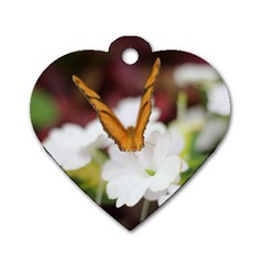 Butterfly 159 Dog Tag Heart (two Sided)