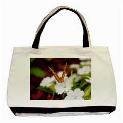 Butterfly 159 Twin Sided Black Tote Bag