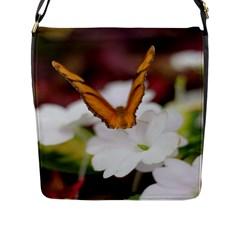 Butterfly 159 Flap Closure Messenger Bag (large)