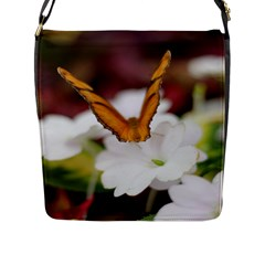 Butterfly 159 Flap Closure Messenger Bag (Large)