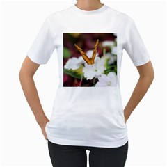 Butterfly 159 Womens  T-shirt (White)