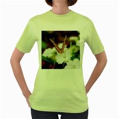 Butterfly 159 Womens  T Shirt (green)